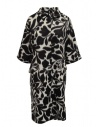 Sara Lanzi white coat with black flowers buy online 02CWV191 FLOWERED