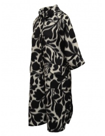Sara Lanzi white coat with black flowers price