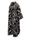 Sara Lanzi white coat with black flowers 02CWV191 FLOWERED price