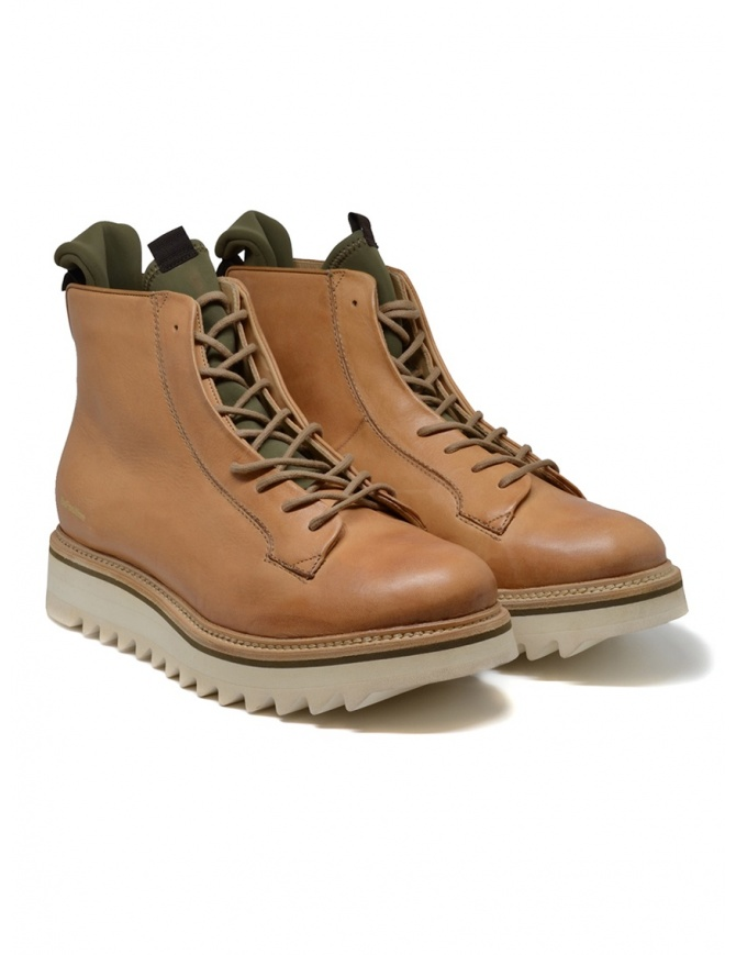 BePositive Master MD boot in beige leather 9FMOLA01/LEA/MIL NATURAL mens shoes online shopping