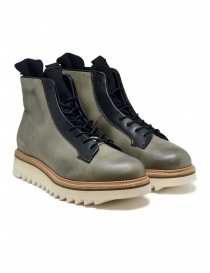 BePositive Master MD boot in army green leather 9FMOLA01/LEA/MIL MILITARY GREE