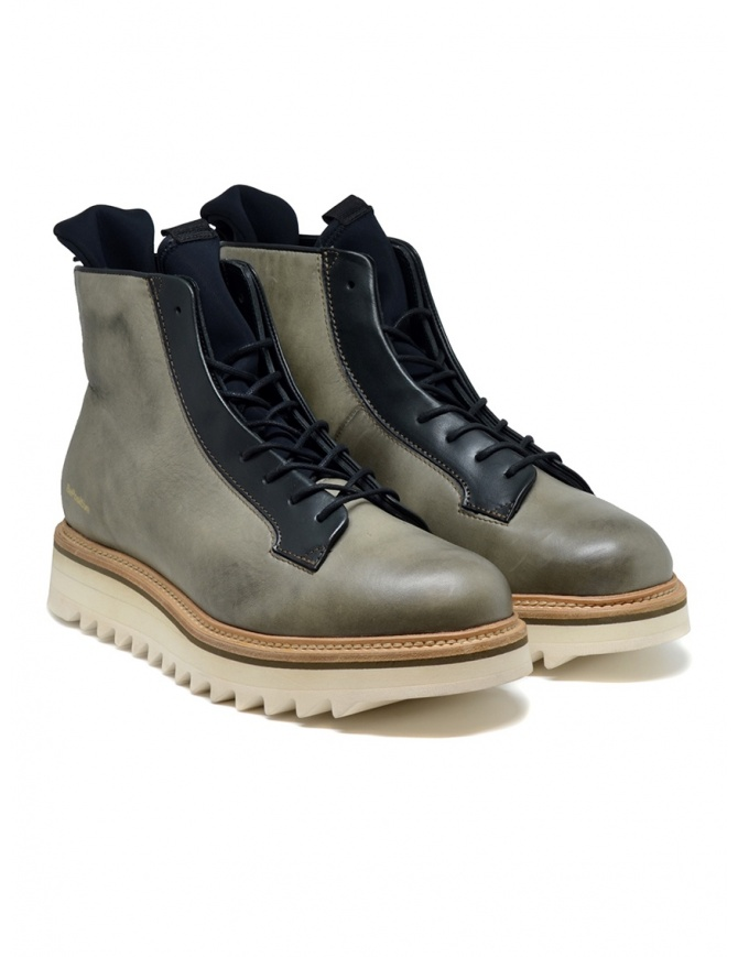 BePositive Master MD boot in army green leather 9FMOLA01/LEA/MIL MILITARY GREE mens shoes online shopping