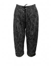 Yasmin Naqvi pantaloni jogging a rombi YNP04 PANTALONE BLACK order online
