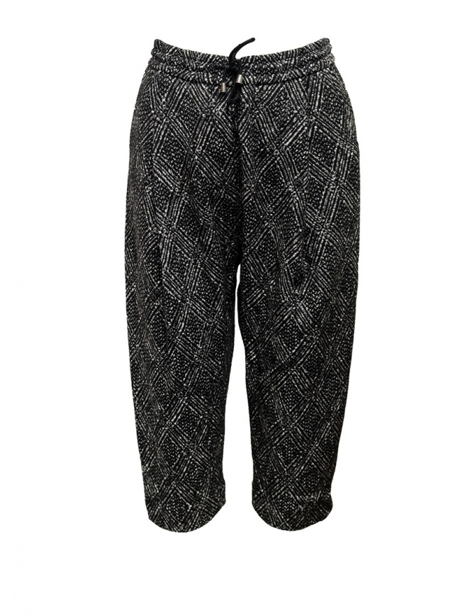 Yasmin Naqvi pantaloni jogging a rombi YNP04 PANTALONE BLACK pantaloni donna online shopping