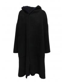 Cappotto poncho Plantation blu-nero reversibile