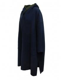 Cappotto poncho Plantation verde-blu reversibile acquista online prezzo