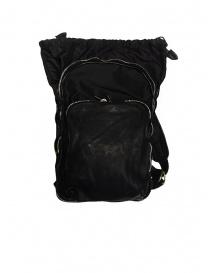 Zaino espandibile Guidi SP05 nero in pelle di cavallo e nylon borse acquista online