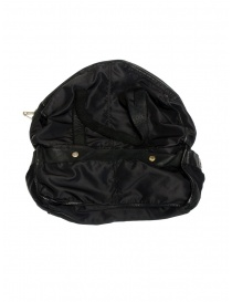 Guidi SP06 expandable black bag in nylon and horse leather buy online price