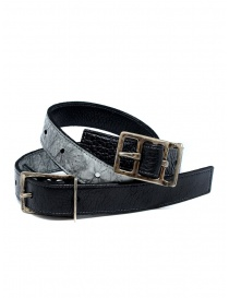 Carol Christian Poell black gray double belt AF/0982-IN PABER-PTC/010 order online