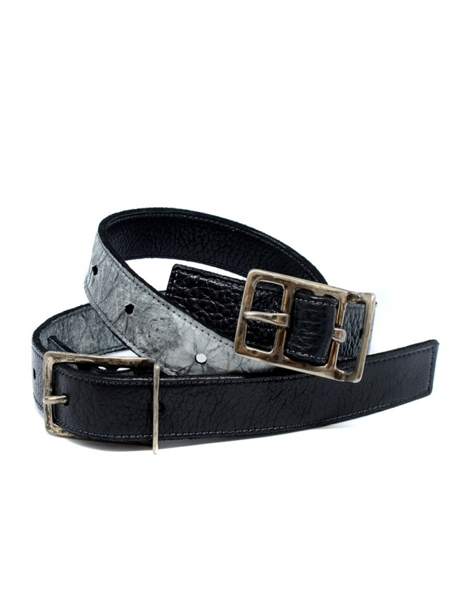 Carol Christian Poell black gray double belt AF/0982-IN PABER-PTC/010 belts online shopping