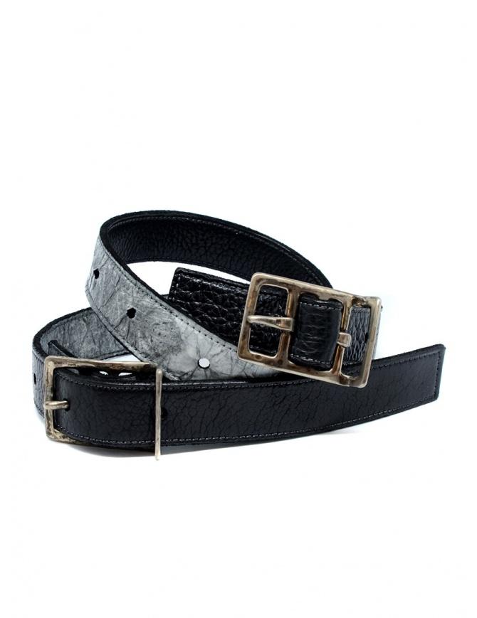 Carol Christian Poell cintura doppia nera grigia AF/0982-IN PABER-PTC/010 cinture online shopping