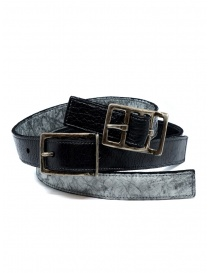 Carol Christian Poell black gray double belt