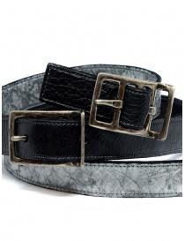 Carol Christian Poell black gray double belt belts buy online