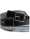 Carol Christian Poell black gray double belt AF/0982-IN PABER-PTC/010 buy online