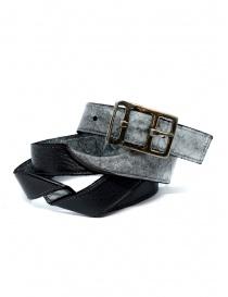 Cinture online: Carol Christian Poell cintura nera argento AF/0981