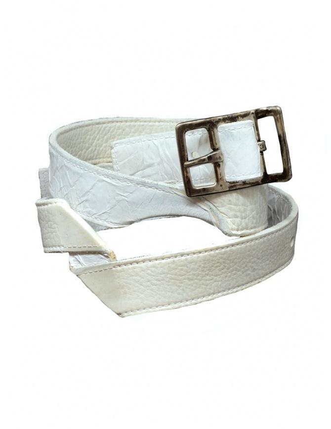Carol Christian Poell twisted white belt AF/0981-IN-PABER-PTC/01 AF/0981-IN PABER-PTC/01 belts online shopping