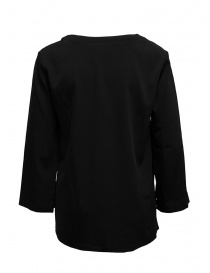 European Culture black V-neck blouse