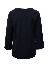 European Culture blue V-neck blouse