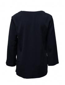 European Culture blue V-neck blouse