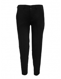 European Culture classic black trousers with elasticated waist 07L0 8082 0600 order online