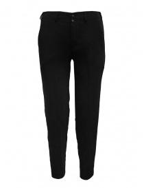 Pantaloni donna online: European Culture pantaloni classici neri con elastico in vita