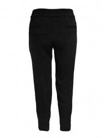 European Culture pantaloni classici neri con elastico in vita