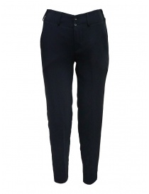 European Culture blue classic pants with elastic waistband 07L0 8082 1508 order online
