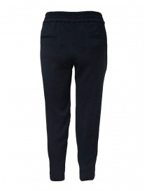 European Culture blue classic pants with elastic waistband