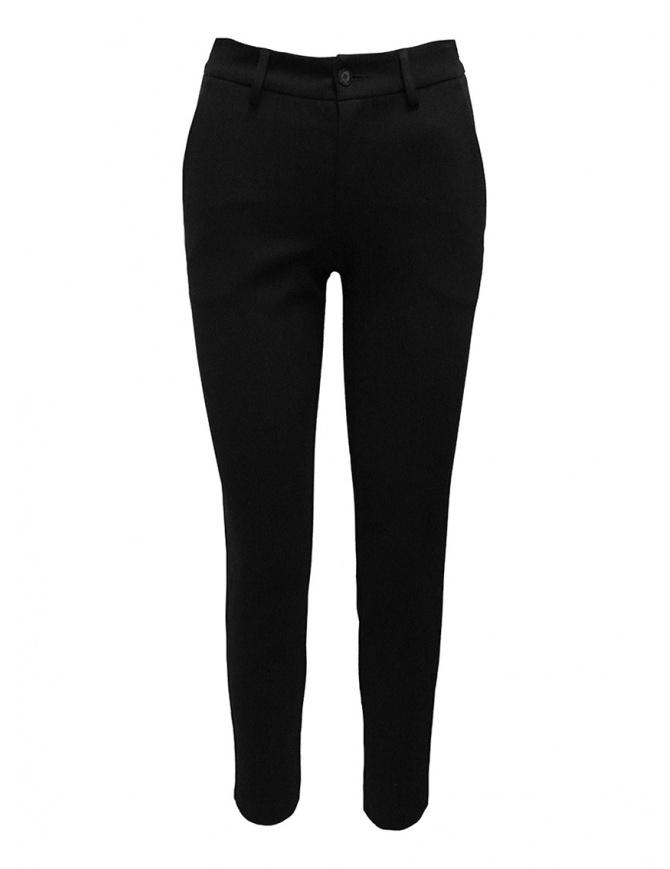 European Culture pantalone chino nero 0620 2545 0600 pantaloni donna online shopping