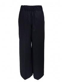 European Culture pantaloni a palazzo in lana blu acquista online
