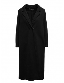 Cappotti donna online: European Culture cappotto lungo in felpa nero
