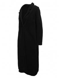 European Culture cappotto lungo in felpa nero