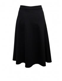 European Culture flared black skirt