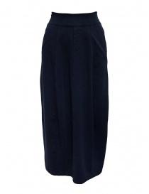 European Culture medium blue skirt with waist band 253U 2261 1508