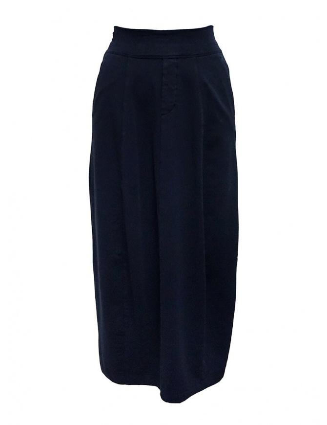 European Culture medium blue skirt with waist band 253U 2261 1508 womens skirts online shopping