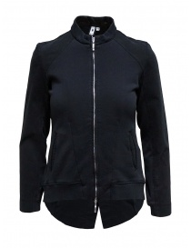 European Culture black fleece jacket with zip online