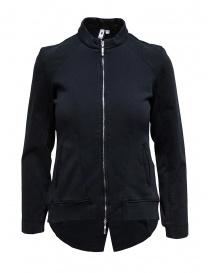 European Culture giubbino felpato nero con zip 46D0 3746 1508 order online