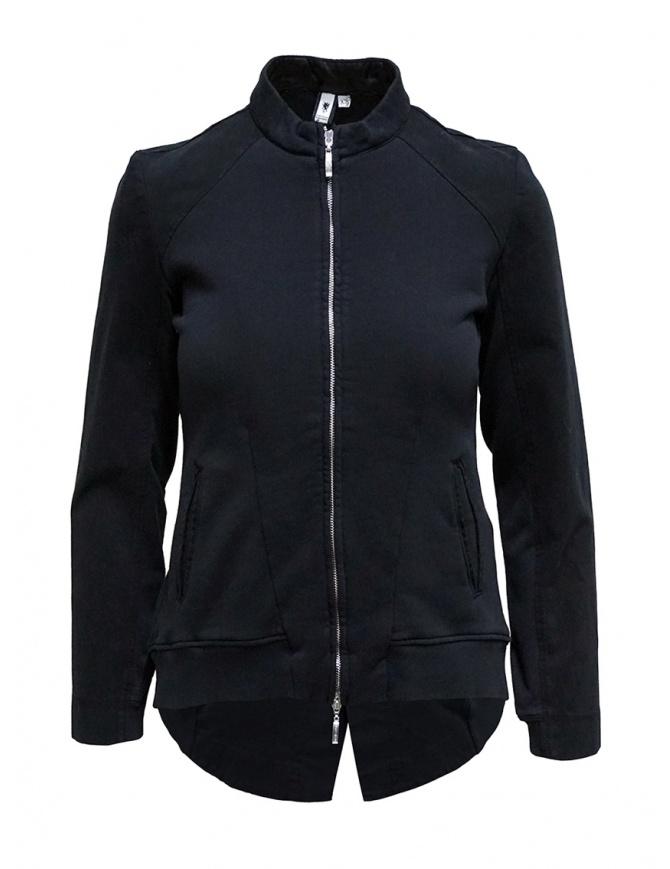 European Culture black fleece jacket with zip 46D0 3746 1508 womens jackets online shopping