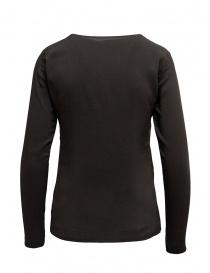 European Culture t-shirt manica lunga doppio strato marrone