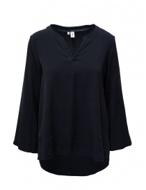 European Culture blue V-neck blouse online