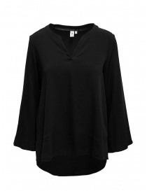 European Culture black V-neck blouse online