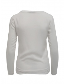 European Culture t-shirt manica lunga doppio strato bianca