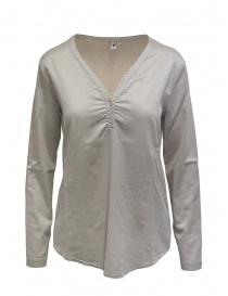Camicie donna online: European Culture blusa beige in misto seta