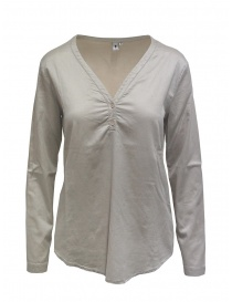 European Culture silk blend beige blouse online