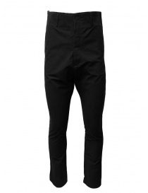Mens trousers online: Deepti black high rise and drop crotch trousers