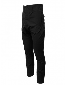 Deepti black high rise and drop crotch trousers price