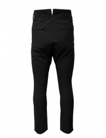 Deepti black high rise and drop crotch trousers buy online
