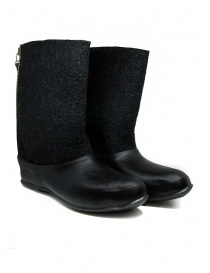 Deepti merino wool boots with rubber galosh online