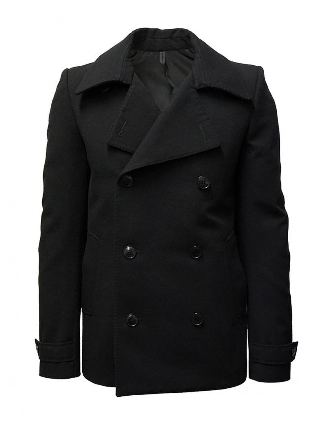 Deepti caban classico nero a doppio petto C-009R WAKE 99 cappotti uomo online shopping
