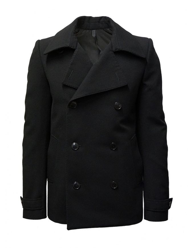 Deepti classic black double-breasted caban C-009R WAKE 99 mens coats online shopping